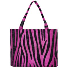 Skin4 Black Marble & Pink Brushed Metal (r) Mini Tote Bag by trendistuff