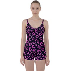 Skin5 Black Marble & Pink Brushed Metal Tie Front Two Piece Tankini