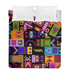Abstract A Colorful Modern Illustration Duvet Cover Double Side (full/ Double Size)