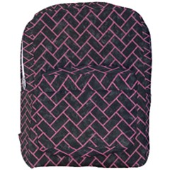 Brick2 Black Marble & Pink Denim (r) Full Print Backpack by trendistuff