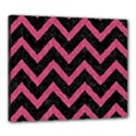 CHEVRON9 BLACK MARBLE & PINK DENIM (R) Canvas 24  x 20  View1