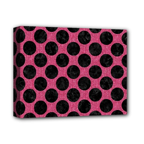 Circles2 Black Marble & Pink Denim Deluxe Canvas 14  X 11  by trendistuff