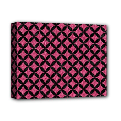 Circles3 Black Marble & Pink Denim Deluxe Canvas 14  X 11  by trendistuff