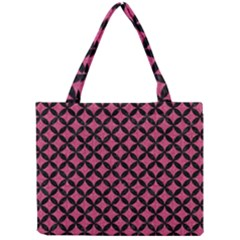 Circles3 Black Marble & Pink Denim Mini Tote Bag by trendistuff