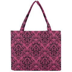 Damask1 Black Marble & Pink Denim Mini Tote Bag by trendistuff