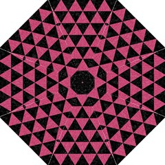 Triangle3 Black Marble & Pink Denim Golf Umbrellas by trendistuff