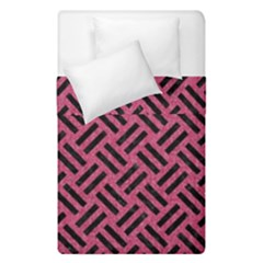 Woven2 Black Marble & Pink Denim Duvet Cover Double Side (single Size) by trendistuff