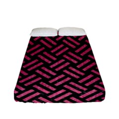 Woven2 Black Marble & Pink Denim (r) Fitted Sheet (full/ Double Size) by trendistuff