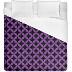 Circles3 Black Marble & Purple Denim (r) Duvet Cover (king Size) by trendistuff