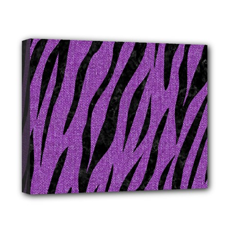 Skin3 Black Marble & Purple Denim Canvas 10  X 8  by trendistuff