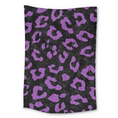 Skin5 Black Marble & Purple Denim Large Tapestry by trendistuff