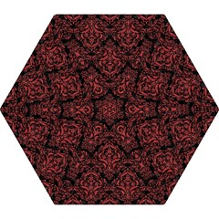 Damask1 Black Marble & Red Denim (r) Mini Folding Umbrellas by trendistuff
