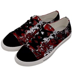 Graffiti Men s Low Top Canvas Sneakers by ValentinaDesign