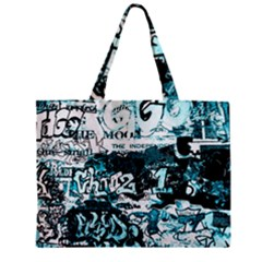 Graffiti Zipper Mini Tote Bag by ValentinaDesign