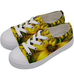 Beautiful Yellow-green Meadow Of Daffodil Flowers Kids  Low Top Canvas Sneakers by jayaprime