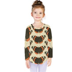 Butterfly Butterflies Insects Kids  Long Sleeve Tee by Celenk