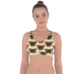 Butterfly Butterflies Insects Cross String Back Sports Bra