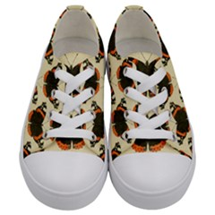 Butterfly Butterflies Insects Kids  Low Top Canvas Sneakers