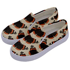 Butterfly Butterflies Insects Kids  Canvas Slip Ons by Celenk