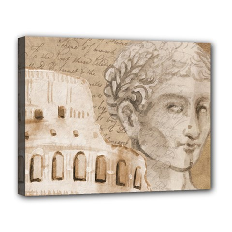 Colosseum Rome Caesar Background Canvas 14  X 11  by Celenk