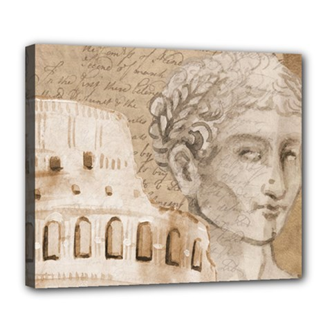 Colosseum Rome Caesar Background Deluxe Canvas 24  X 20   by Celenk