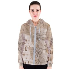 Colosseum Rome Caesar Background Women s Zipper Hoodie by Celenk