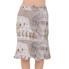 Colosseum Rome Caesar Background Mermaid Skirt by Celenk