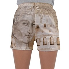 Colosseum Rome Caesar Background Sleepwear Shorts by Celenk