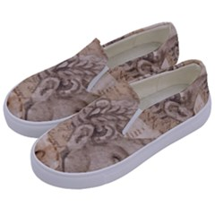 Colosseum Rome Caesar Background Kids  Canvas Slip Ons by Celenk