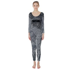 Abstract Art Decoration Design Long Sleeve Catsuit