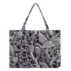 Black And White Pattern Texture Medium Tote Bag by Celenk