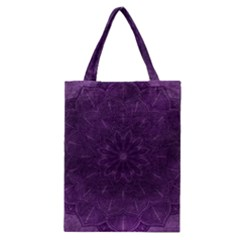 Background Purple Mandala Lilac Classic Tote Bag by Celenk