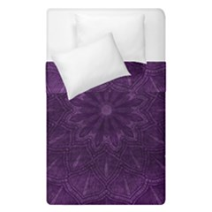Background Purple Mandala Lilac Duvet Cover Double Side (single Size) by Celenk
