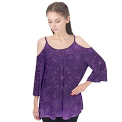 Background Purple Mandala Lilac Flutter Tees by Celenk