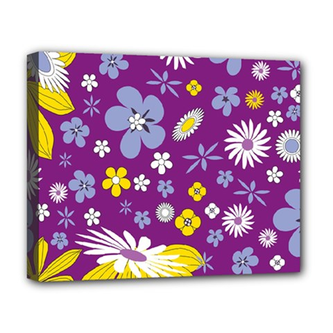 Floral Flowers Deluxe Canvas 20  X 16   by Celenk