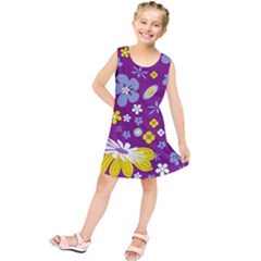 Floral Flowers Kids  Tunic Dress by Celenk