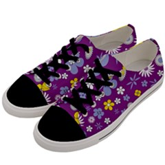 Floral Flowers Men s Low Top Canvas Sneakers by Celenk