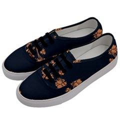 Floral Vintage Royal Frame Pattern Men s Classic Low Top Sneakers by Celenk