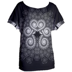 Fractal Filigree Lace Vintage Women s Oversized Tee