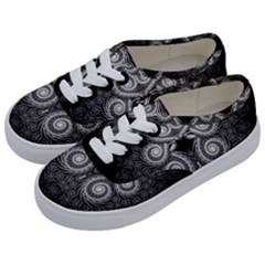 Fractal Filigree Lace Vintage Kids  Classic Low Top Sneakers by Celenk