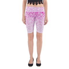 Halftone Dot Background Pattern Yoga Cropped Leggings by Celenk