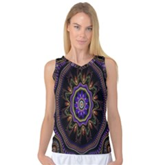 Fractal Vintage Colorful Decorative Women s Basketball Tank Top