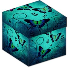 Texture Butterflies Background Storage Stool 12   by Celenk