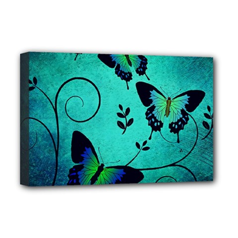 Texture Butterflies Background Deluxe Canvas 18  X 12   by Celenk