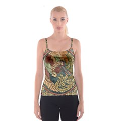 Wings Feathers Cubism Mosaic Spaghetti Strap Top by Celenk