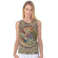 Wings Feathers Cubism Mosaic Women s Basketball Tank Top by Celenk