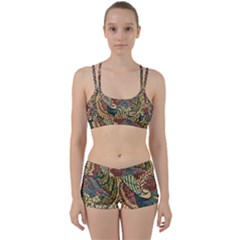 Wings Feathers Cubism Mosaic Women s Sports Set