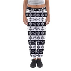 Snowflakes   Christmas Pattern Women s Jogger Sweatpants