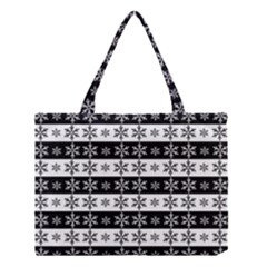Snowflakes   Christmas Pattern Medium Tote Bag by Valentinaart