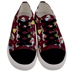 Christmas Angels  Men s Low Top Canvas Sneakers